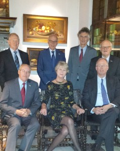 College van regenten december 2016: v.l.n.r. E.P. Vonk (secretaris/penningmeester 2017 e.v.) , D.A. van den Wall Bake, (secretaris/penningmeester tot 2017), G.W. van Hoogevest, G. Perrick (voorzitter 2016), W. Opstelten, F.J. Tielens (voorzitter 2017), A.J. de Jonge