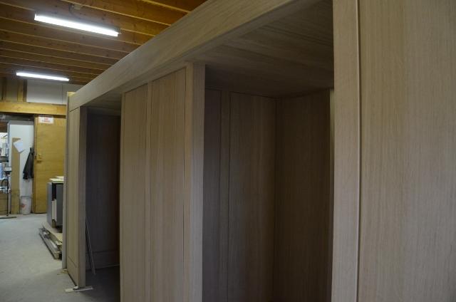 de vestibule in aanbouw